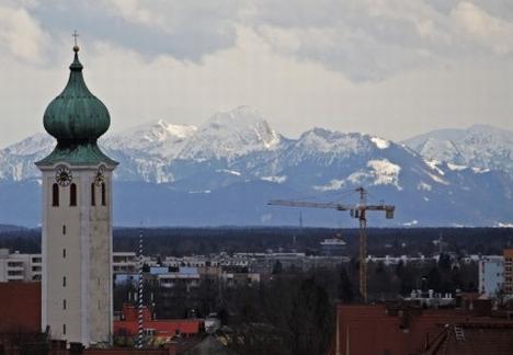 Alpen Panorama von der Plattform