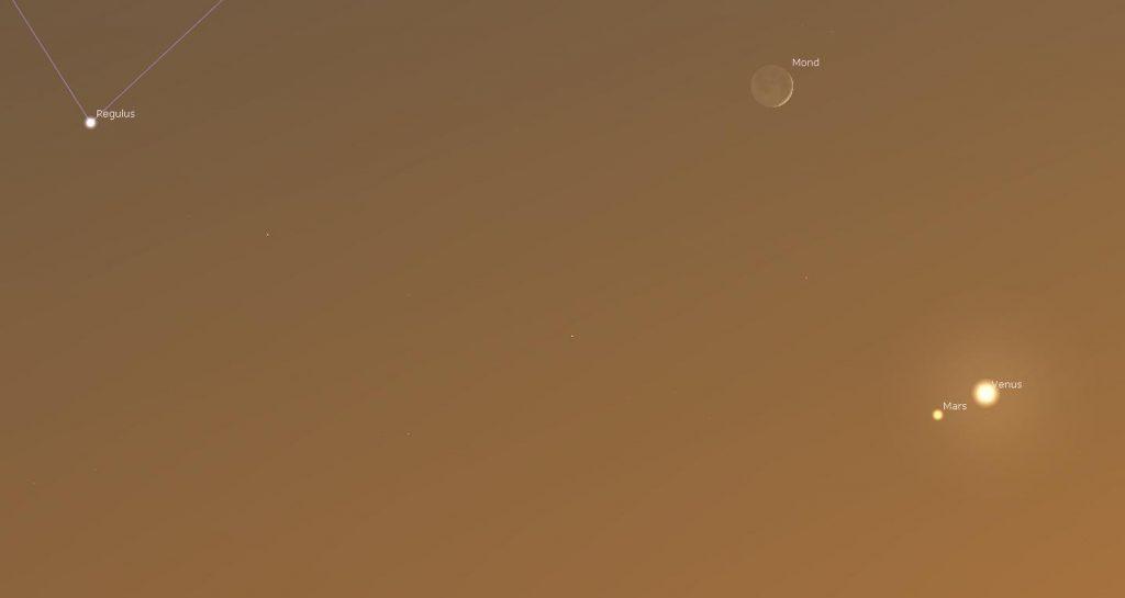 Venus trifft Mars Juli 2021