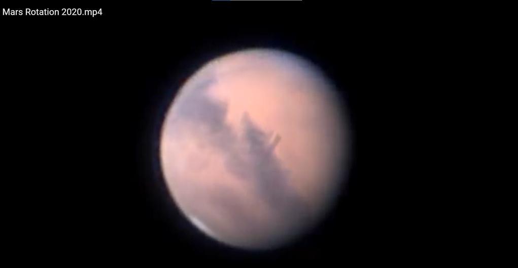 Still aus dem Marsfilm von Ernst Elgass