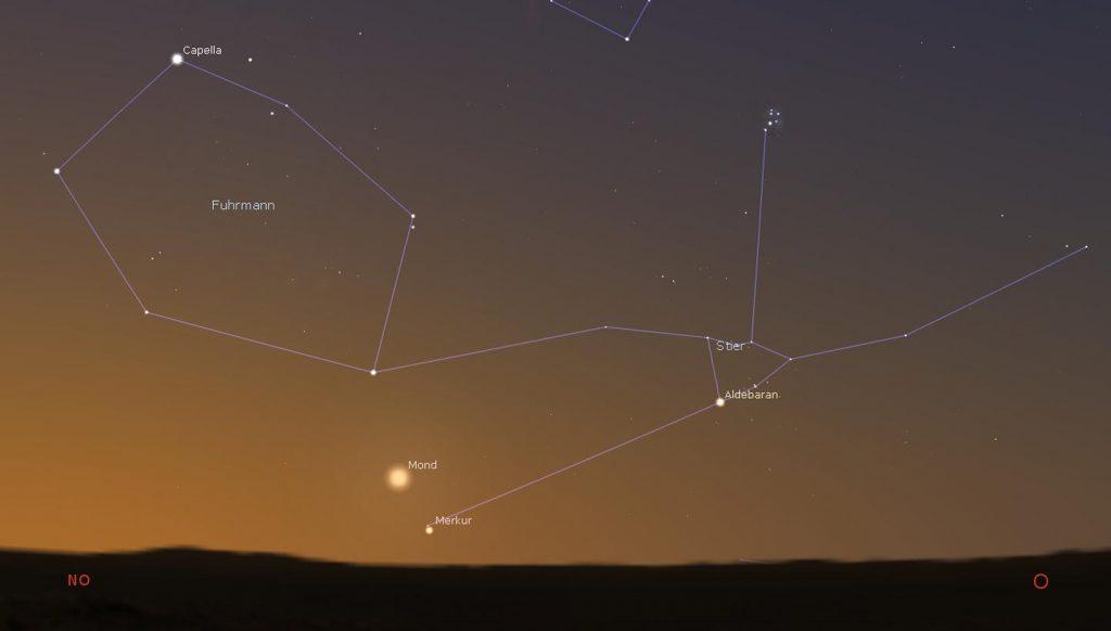 Merkur am Morgenhimmel Juli 2021